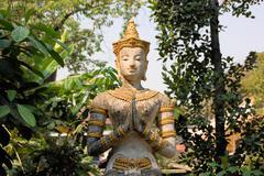 Apsara at Buddhist temple, Chiang Mai , Thailand Stock Photos