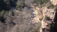 Sedona Arizona Verde River valley gorge 4K 010 Stock Footage