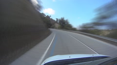 Pov Top Of Car On country roads - stock footage