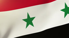 Syria flag waving in the wind. Looping sun rises style.  Animation loop Stock Footage