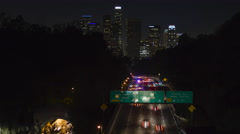 Downtown Los Angeles Freeway Timelapse 01 UHD 4k Stock Footage