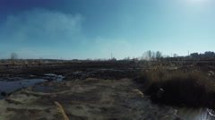Ash dump thermal station Stock Footage
