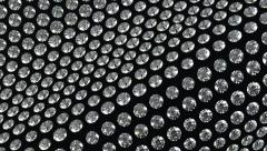 Loopable waving material with diamonds or gems. Alpha Stock Footage