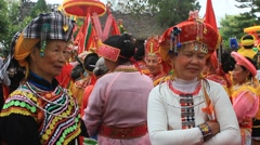 People attending traditional festivals Stock Footage