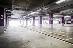 Empty parking garage Stock Photos