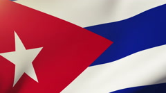 Cuba flag waving in the wind. Looping sun rises style.  Animation loop Stock Footage