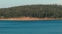 View Across Serpentine Dam in Western Australia Stock Footage