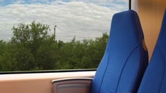 View from the window of a passenger train - stock footage
