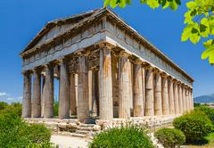 Temple of Hephaestus in Athens - stock photo