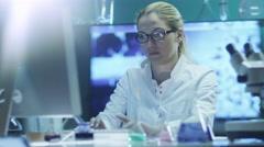 Portrait of Successful Woman Scientist - stock footage