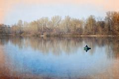 Solitude on the Lake - stock photo