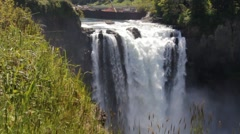 Beautiful waterfall snoqualmie Stock Footage