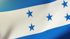 Honduras flag waving in the wind. Looping sun rises style.  Animation loop Stock Footage