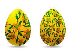 Vector illustration - easter eggs Stock Illustration