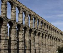 Aqueduct  in Segovia Spain Stock Photos