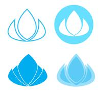 Lotus flower spa and beauty logo - stock illustration