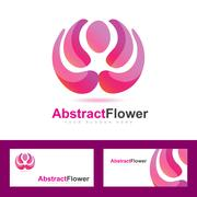 Abstract flower logo beauty spa wellness - stock illustration