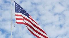 US flag 4k Stock Footage