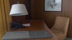 Luxury meeting room in hotel Stock Footage
