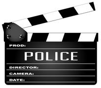 Police Clapperboard Piirros