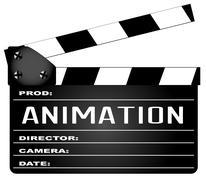 Animation Clapperboard - stock illustration