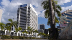 Puerto Rico banking district buildings 3 of 8 Stock Footage