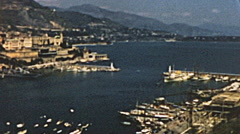 Monaco 1956: the cityscape Stock Footage