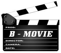 B Movie Clapperboard Piirros