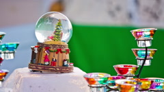 Crystal ball with decorations Stock Footage
