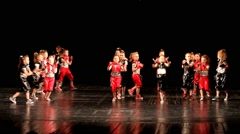 Children dancing during The Children's Dance Competition. Young dancers Stock Footage