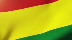 Bolivia flag waving in the wind. Looping sun rises style.  Animation loop Stock Footage
