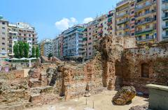 Thessaloniki. Archaeological excavations of palace of Roman Emperor Galerius - stock photo