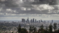 Cloudy sky over Downtown Los Angeles Timelapse UHD 4K Stock Footage