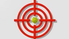 Virus model in target Stock Footage