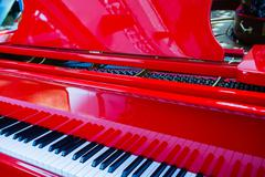 Stock Photo of background of red piano
