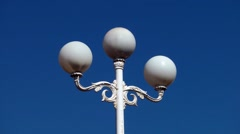 lamp old decorative deep blue sky three shades - stock footage