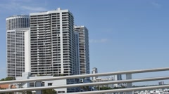 Drive gimbal buildings Miami Stock Footage