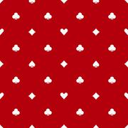 Poker red seamless pattern Piirros