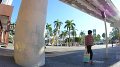 Downtown Miami city streets 4k video 3 Stock Footage