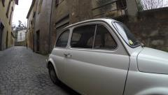 The Old Fiat 500L in Orvieto, Umbria, Italy - stock footage