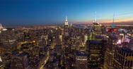 Stock Video Footage of New York City skyline sunset evening timelapse buildings