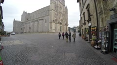 Orvieto Duomo in Umbria, Italy Stock Footage