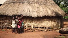 Africa village children Stock Footage