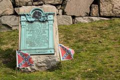 Hollywood Cemetery Richmond Confederate Plaque Stock Photos