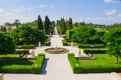 Bahai Gardens, Acre Stock Photos