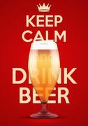Illustration Keep Calm And Drink Beer Piirros