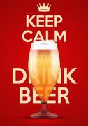 Illustration Keep Calm And Drink Beer Stock Illustration