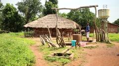 Africa native village water well Stock Footage