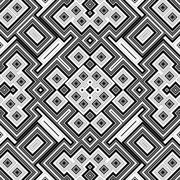 Seamless black and white geometric background Stock Illustration