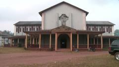 Church building in Nigeria Stock Footage